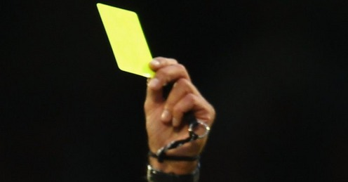 how to get a yellow card in football
