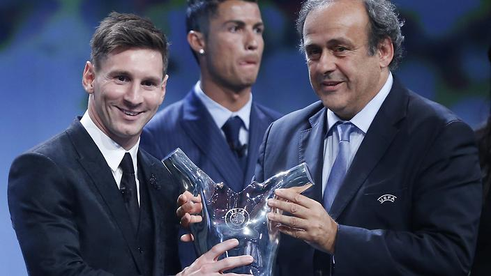 Lionel Messi was named the UEFA Best Player in Europe for the 2014-15